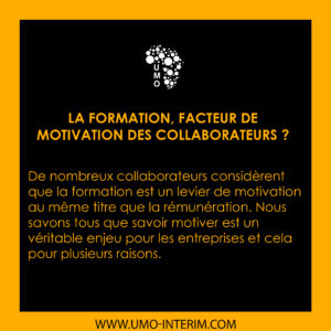 LA FORMATION, FACTEUR DE MOTIVATION DES COLLABORATEURS ?